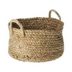 "Target Threshold™ Jute Basket with Handles - 10""w x7""h"