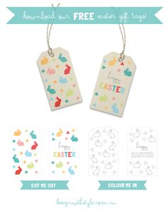 Free printable easter basket gift tags things i must do cute printable easter tags negle