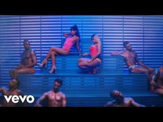 "Ariana Grande and Nicki Minaj in the video for ""Side to Side"". Directed by Hannah Lux Davis. Ariana Grande, with Nicki Minaj. A music video for ""Side to Side"". Ariana Grande Problem, Gif Ariana Grande, Ariana Grande Music Videos, American Music Awards, Big Sean, Side To Side Lyrics, Lil Wayne, Music Songs, New Music"
