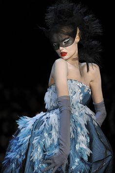 Magdalena Frackowiak on the runway for Dior, Haute Couture Spring 2011.