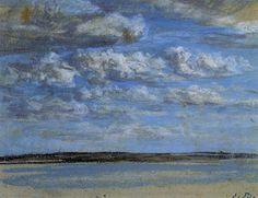 White Clouds, Blue Sky, 1859  Eugene Boudin