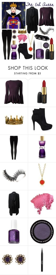 """Snow White and the Seven Dwarfs: The Evil Queen"" by cristianoronaldostar ❤ liked on Polyvore featuring Alexander McQueen, MAC Cosmetics, ZENTS, Nly Shoes, J Brand, Yves Saint Laurent, Paloma Picasso, Donna Karan, Essie and Konplott"