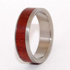 Dauphin satin    Minter + Richter   Titanium Rings - Wooden Wedding Rings   Titanium Rings   Minter + Richter