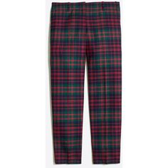 J.Crew Skimmer pant in plaid ($49) ❤ liked on Polyvore featuring pants, capris, pant, j. crew pants, stretch trousers, plaid trousers, blue pants and plaid pants