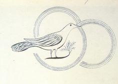 Shaker Spirit or Gift Drawing, Dove