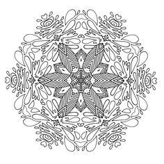 Coloring book Dream with Mandalas Design 111