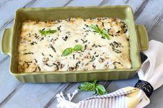Chicken zucchini mushroom and cheese casserole