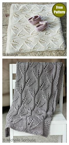 lace knitting This beautiful Lace Leafy Baby Blanket Free Knitting Pattern is quick to work up and has a lovely, leaf-inspired pattern for the perfect natural touch. Baby Knitting Patterns, Free Baby Blanket Patterns, Crochet Blanket Patterns, Baby Blanket Crochet, Free Knitting, Lace Knitting Stitches, Knitting Tutorials, Lace Patterns, Knitting Designs