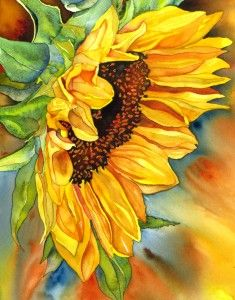 Sun Diva (watercolor)