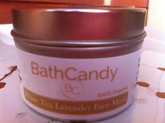 White Tea Lavender Face Mask by lovemybathcandy on Etsy, $12.00