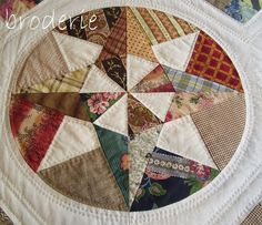 One of the blocks of the Camelot quilt-gorgeous