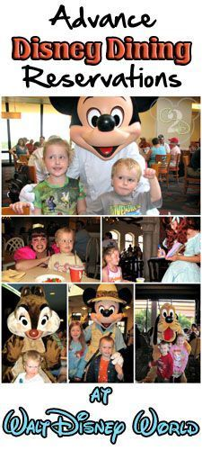 If you are planning on dining on Walt Disney World property, its in your partys best interest to be dining with advance Disney dining reservations (called ADR).