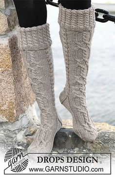 Boot cable knit socks-these look SO comfy!