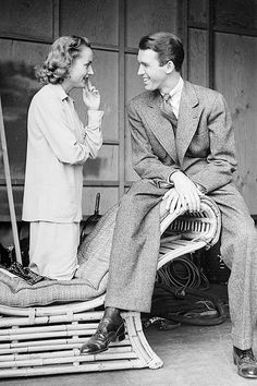 Carole Lombard and James Stewart, 1938, photo by Alfred Eisenstaedt