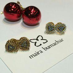 Brincos coração! #presenteie #mairabumachar  www.mairabumachar.com.br #pedidosporwhatsapp (11)997440079