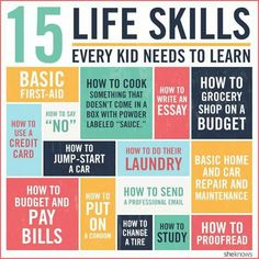 Life skills your child needs to know