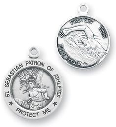 Heartland Engravable Mens Sterling Silver Saint Matthew Oval Medal Choose Chain Customize