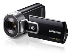 Samsung QF30 camcorder with live-streaming feature.