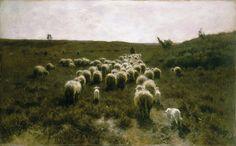 Anton Mauve - The Return of the Flock, Laren [c.1886-87]   Flickr - Photo Sharing!
