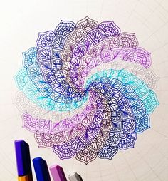 Another progress shot I'm using Stabilo point 88 for this mandala! These are great to get fine detail and they come in many beautiful colours! Mandala Design, Mandala Art, Mandala Drawing, Drawing Flowers, Flower Drawings, Plant Drawing, Painting & Drawing, Arte Sharpie, Art It