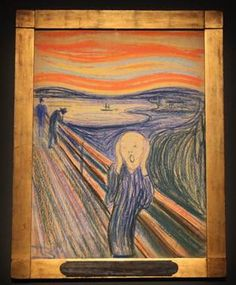 Shot this morning at the members viewing of The Scream by Edvard Munch at the MoMA. This is the first time it will be showin New York! William Turner, Wassily Kandinsky, Gustav Klimt, New Artists, Famous Artists, Le Cri Edvard Munch, Most Expensive Painting, Expensive Art, Scream