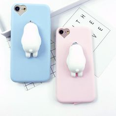 Lovely silicon Animal Cartoon Cute Cat Squishy bear Candy Color Soft TPU phone case for iPhone 5 SE 6 7 Plus cover capa Iphone 5s, Iphone 7 Plus, Cool Iphone 6 Cases, Cute Phone Cases, King Size Bed Linen, Cute Candy, We Bare Bears, Candy Colors, Cartoon