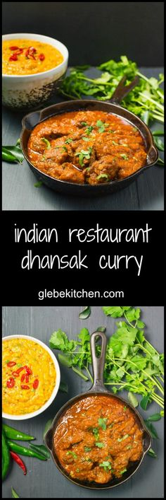 Indian dhansak restaurant curry combines the creaminess of lentils with the tang of tamarind.