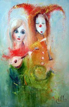 Igor Medvedev (Игорь Медведев)... Custom Wall Murals, Pierrot, Sketching Tips, Clowning Around, Figurative Art, Love Art, Amazing Art, Whimsical, Sketches