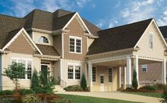 Fiber Cement Siding Cost HardiePlank Installation Cost per Sq. Siding Colors For Houses, Exterior Paint Colors, Exterior Design, House Colors, Vinyl Siding Cost, Siding Contractors, Steel Siding, Cedar Siding, Fiber Cement Siding