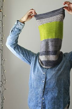 Ravelry: 3 Color Cashmere Cowl pattern by Joji Locatelli :: This will be perfect for my alpaca fingering scraps! Cowl Scarf, Knit Cowl, Knitted Shawls, Crochet Scarves, Knit Crochet, Knitting Accessories, Shawls And Wraps, Knitting Yarn, Knitting Projects