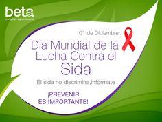 Día Mundial de la Lucha contra el Sida. El sida no discrimina, infórmate. ¡Prevenir es importante!
