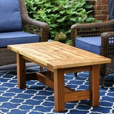 Diy Furniture Plans Wood Projects, Outdoor Furniture Sets, Table Furniture, Garden Furniture, Woodworking Plans, Woodworking Projects, Building A Patio, Outdoor Coffee Tables, Outdoor Table Plans
