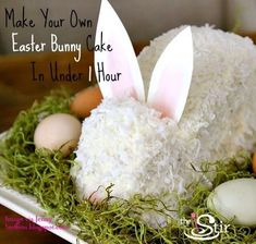 The Stir-Amazing Easter Bunny Cake Recipe You Can Make in Under an Hour (PHOTOS)