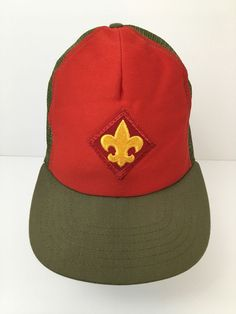 Boy Scout Vintage Hat Mesh Trucker Cap Foam Front with Patch Rare Made in  USA 57e8b672b81e