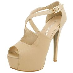 Allegra K Woman Peep Toe High Heel Platform Sandals (Size US 10) Beige... With a platform sole for comfort, these peep toe high heeled sandals instantly add a flirty touch to any look they finish. The adjustable crisscross straps mean more support (so you can wear them all day), and lend a flattering femme quality.FITTING TIPS: SIZE 7 AND SIZE 7.5 RUN REGULAR. OTHERS......http://bit.ly/2mO7AAI