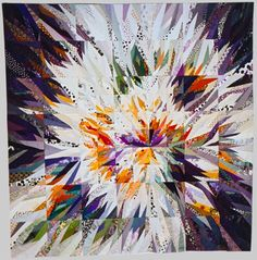 Steuerframe, by Ursula Kern Contemporary Quilts, Contemporary Abstract Art, Patchwork Quilting, Scrappy Quilts, Vogel Quilt, Watercolor Quilt, Rainbow Quilt, Quilt Modernen, Colorful Quilts