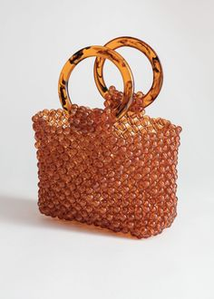 c93dfc62bd8a Circle Handle Beaded Bag. zoomed image