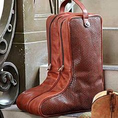 Boot Bag Leather Chairs Boots Basket Weaving Cowboy Dining