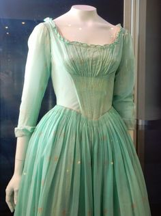 Cinderella (2015) film costume detail.  Designer, Sandy Powell.