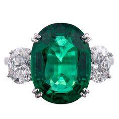 5.08ct Emerald and Diamond Ring