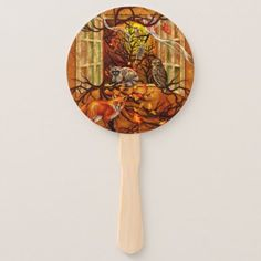 Forest Room Hand Fan - oak gifts tree leaves style nature gift idea cyo