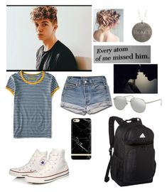 """Jack Avery "" by alisa-avery ❤ liked on Polyvore featuring Aéropostale, Converse, Linda Farrow, Richmond & Finch, adidas and fettY"