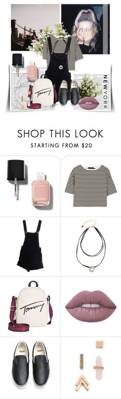 """""""Untitled #1710"""" by nybabe96 ❤ liked on Polyvore featuring Chanel, TIBI, ASOS, Lydell NYC, Tommy Hilfiger, Lime Crime, Vans, Rebecca Minkoff and New Growth Designs"""