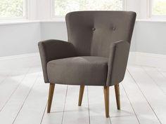 Pablo Accent Chair - Voluptuous armrests and a gently curved back add comfort to any living room, bedroom or study - by www.livingitup.co.uk