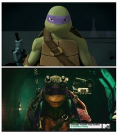 Donnie 2012 / Donnie 2014 <3 #tmnt. THEY BOTH MAKE THE SAME HOT FACE!!!<<< That comment!!!!!!