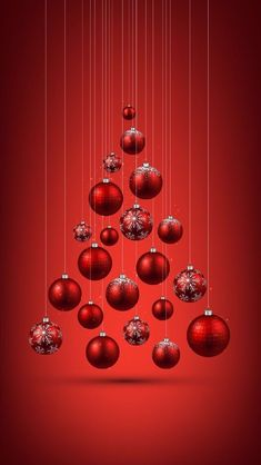 46 ideas for christmas tree red ornaments xmas Noel Christmas, Christmas Balls, Christmas Wishes, Christmas Pictures, Christmas Greetings, Christmas Crafts, Wall Christmas Tree, Winter Christmas, Christmas Phone Wallpaper