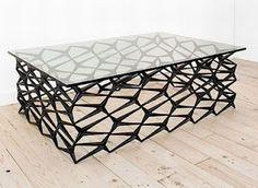 Fenced Modern Coffee Table (Jason Horvath) - Neoclassical Thomas Sheraton inspired (trellis designs).