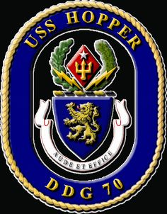 USS Hopper DDG 70 patch