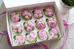 Капкейки с кремовыми цветами - Кондитерская - Babyblog.ru