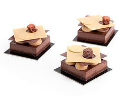 "Deconstructed ""opera cake"" chocolate cake, chocolate creme… 